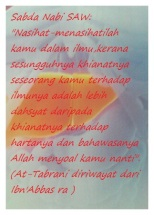 Sabda Nabi Muhammad SAW